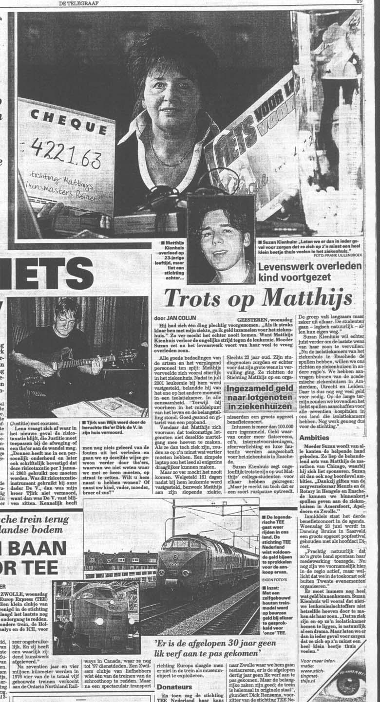 Trots op Matthijs - Persarchief 2006